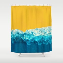 teal and yellow shower curtain. Yellow Tide Shower Curtain Colorblock Curtains  Society6