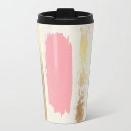 Brush Strokes (Rose/Gold) Travel Mug
