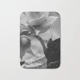 Butterfly On Flower Bath Mat