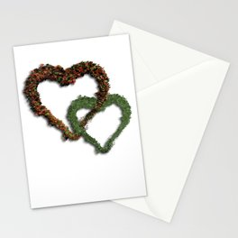 natural hearts Stationery Cards