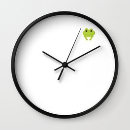 Frog Catching Expert Great Outdoors Lover T-Shirt Wall Clock