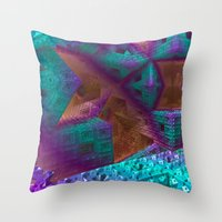 be brave Throw Pillows featuring Brave by Fractalinear
