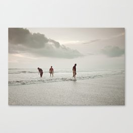 Ceremony at Seminyak Beach in Bali Canvas Print