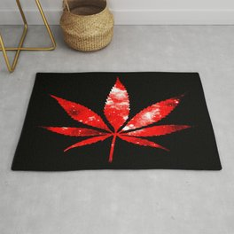 Weed : High Times red Galaxy Rug