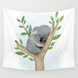 Sleeping Koala Bear Wall Tapestry