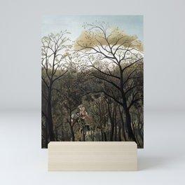 Henri Rousseau Rendezvous in the Forest Mini Art Print