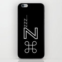 Command Zzzz... iPhone Skin