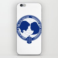 amy pond iPhone & iPod Skins featuring Doctor Who pals: Matt Smith & Amy Pond by logoloco