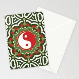 Holiday Festive Balance Yin Yang Stationery Cards