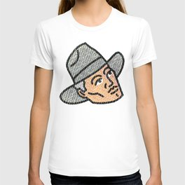 Halftone Cowpoke - Western Inspired Pop Art by CJ Hughes T-shirt