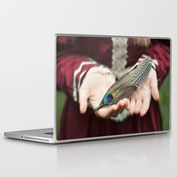 feather Laptop & iPad Skins featuring feather by elle moss