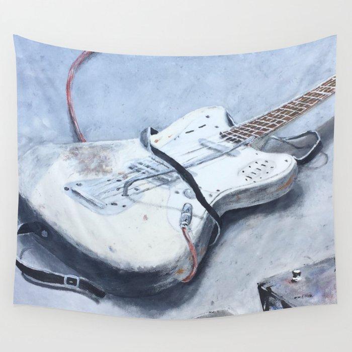 rock n roll guitar Wall Tapestry