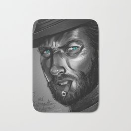 Clint Eastwood Fan Art Bath Mat