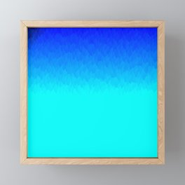 Electric Blue Ombre flames / Light Blue to Dark Blue Framed Mini Art Print