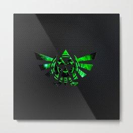 Zelda Shield Triforce Metal Print