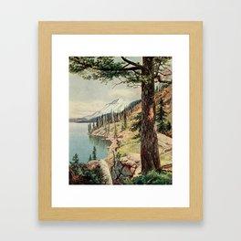 Bagg, Henry H. (1852-1928) - On Sunset Highways 1921 - On the Shore of Lake Tahoe Framed Art Print