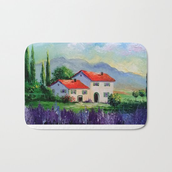The beauty of Provence Bath Mat