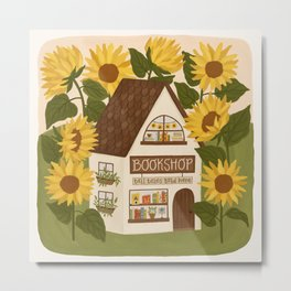 Sunflower Bookshop Metal Print