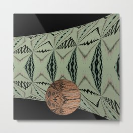 Ball on Pipe 12 Metal Print