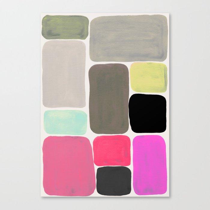 colour + pattern Canvas Print
