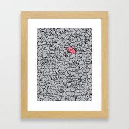 Word 2 the Herd v1 Framed Art Print