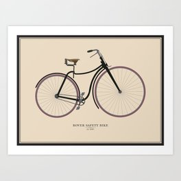 Vintage Rover Safety Bike Art Print