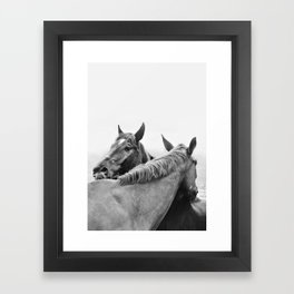 Two Horses Framed Art Print