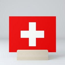 Flag of Switzerland Mini Art Print