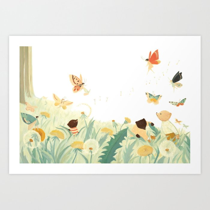 The Butterfly Field by Emily Winfield Martin Kunstdrucke