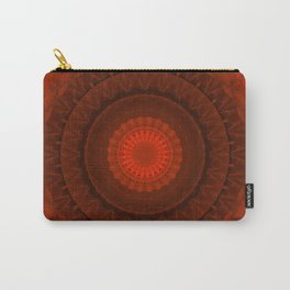 Vivid red mandala Carry-All Pouch