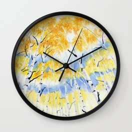 Under the Birch Forest Wall Clock