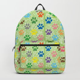 Colorful paw prints Backpack