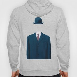 Man In a Bowler Hat by Rene Magritte, Artwork For Prints, Posters, Tshirts, Bags, Men Women, Kids Hoody