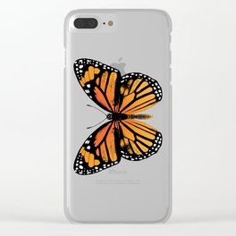 Monarch Butterfly | Vintage Butterfly | Clear iPhone Case