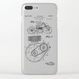 Motorcycle Patent Art Clear iPhone Case