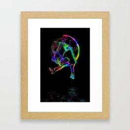 Scoot the Moon - Scooter Boy Framed Art Print