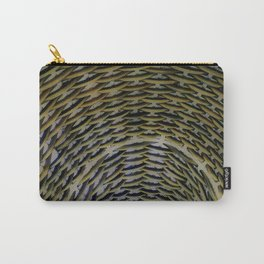 Woven Wicker Carry-All Pouch
