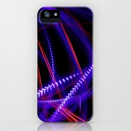 Abstract blue and red light effect iPhone Case