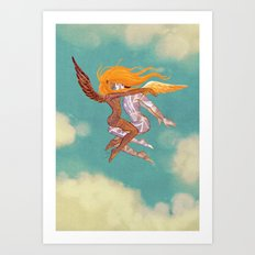 Danseurs Cosmiques 3 Art Print