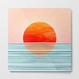 Minimalist Sunset III Metal Print