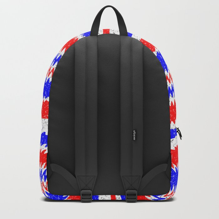 Red White Blue Waving Lines Backpack