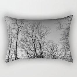 Black and white naked trees Rectangular Pillow