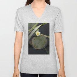 Zen Water Lily Unisex V-Neck