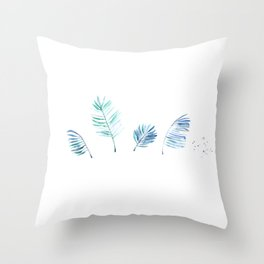 Cold Tropical Throw Pillow