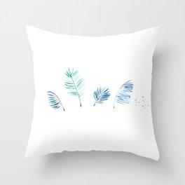 Cold Tropical Throw Pillow