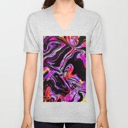 Purple Tie Dye Unisex V-Neck