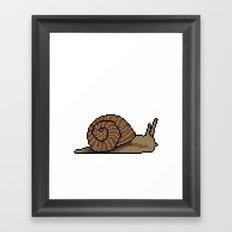 Pixel Snail Framed Art Print