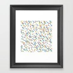 squares salad Framed Art Print