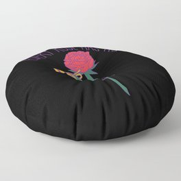 Every Rose Has Its Horn Floor Pillow