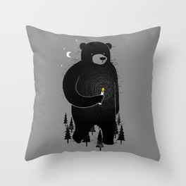 Lost in the wood Throw Pillow